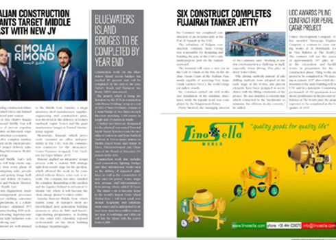 "Lino Sella sulla rivista ""Construction Business News"""