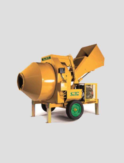 hydraulic cement mixers with reversing drum