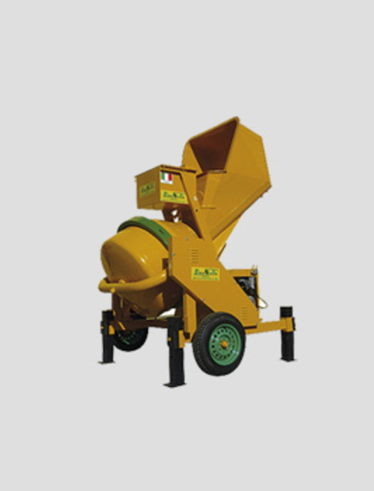 hydraulic concrete mixers with tilting drum